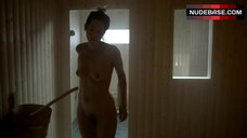 Sienna Guillory Shows Tits and Pussy in Sauna – Fortitude