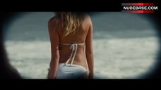 1. Kate Upton in White Bikini on Beach – The Other Woman