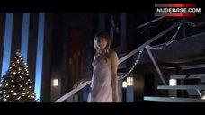 1. Jordan Hinson Sexy in See-Through Nightgown – A Very Harold & Kumar 3D Christmas