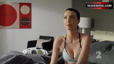 Tania Nolan Sexy in Sports Bra – Step Dave