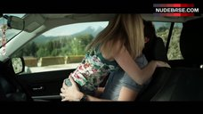 1. Dreama Walker Sexy Scene in Car – Date And Switch