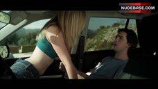 7. Dreama Walker Sexy Scene in Car – Date And Switch