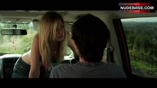 8. Dreama Walker Sexy Scene in Car – Date And Switch