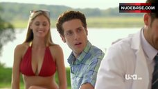 Elizabeth Masucci Sexy in Red Bikini – Royal Pains