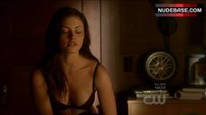 Phoebe Tonin in Sexy Bra and Panties – The Secret Circle