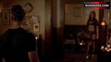 Karolina Wydra Sexy in Black Lingerie – True Blood