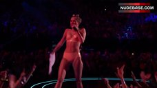Miley Cyrus in Lingerie on Stage – Mtv Video Music Awards