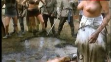 10. Lana Clarkson Topless Fight in Mud – Barbarian Queen Ii