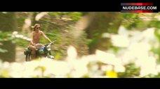 Jill De Jong Naked Ride on Motorcycle – Nature Calls