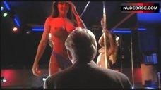 Nikki Fritz Shows Boobs in Strip Club – Black & White