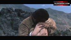 10. Brigitte Bardot Covers Nude Breasts – Shalako