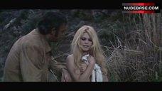 4. Brigitte Bardot Covers Nude Breasts – Shalako