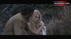 7. Brigitte Bardot Covers Nude Breasts – Shalako