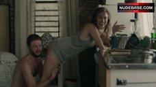 6. Allison Williams Ass Scene – Girls