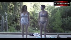 Gaby Hoffmann in Lingerie in Pool – Transparent