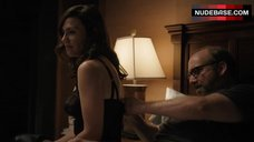 10. Maggie Siff Shows Sexy Black Lingerie – Billions