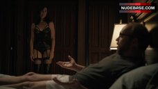 2. Maggie Siff Shows Sexy Black Lingerie – Billions