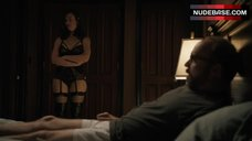 3. Maggie Siff Shows Sexy Black Lingerie – Billions