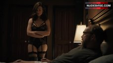 Maggie Siff Shows Sexy Black Lingerie – Billions