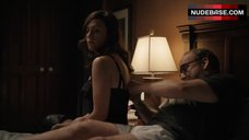 8. Maggie Siff Shows Sexy Black Lingerie – Billions