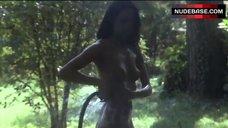 Laura Gemser Completely Nude in Garden – The Alcove