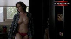 Melanie Lynskey in Bra and Panties – Togetherness