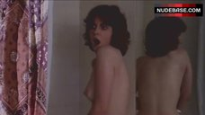 Lynne Frederick Bare Boobs and Butt in Shower – Schizo