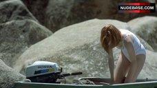 3. Tilda Swinton in Wet Shirt – The Deep End