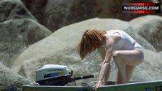 4. Tilda Swinton in Wet Shirt – The Deep End