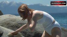 Tilda Swinton in Wet Shirt – The Deep End