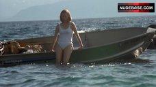 7. Tilda Swinton in Wet Shirt – The Deep End