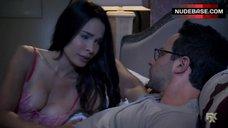 Sexy Nadine Velazquez in Bra – The League