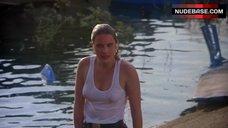 4. Denise Crosby in Wet T-Shirt – Eliminators