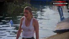6. Denise Crosby in Wet T-Shirt – Eliminators