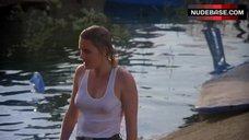 7. Denise Crosby in Wet T-Shirt – Eliminators