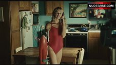 Sarah Wright in Red Swimsuit – Surfer, Dude