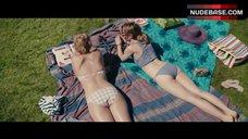 Margot Robbie Sunbathing in Bikini – About Time