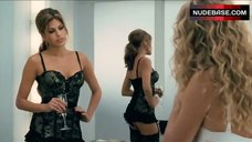 Eva Mendes Hot in Corset and Stockings – The Women