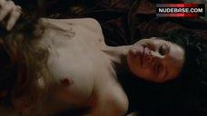 Caitriona Balfe Breasts Scene – Outlander