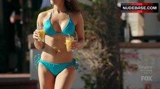 Jaina Lee Ortiz in Blue Bikini – Rosewood