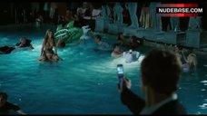 10. Jennifer Walcott Topless in Pool – The Pool Boys