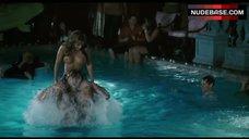 4. Jennifer Walcott Topless in Pool – The Pool Boys
