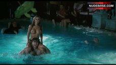 5. Jennifer Walcott Topless in Pool – The Pool Boys