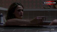 2. Keri Russell in Bathtub – The Americans