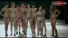 10. Shorena Begashvili Sexy in Golden Bikini – Keep Smiling