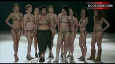 6. Shorena Begashvili Sexy in Golden Bikini – Keep Smiling