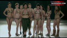 7. Shorena Begashvili Sexy in Golden Bikini – Keep Smiling