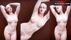 Stefania Ferrario Shows Underwear on Street – Embrace