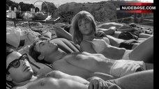 Julie Christie Sunbathing in Lingerie – Darling