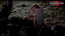 Lorraine Peters Nude on Cemetery – The Wicker Man